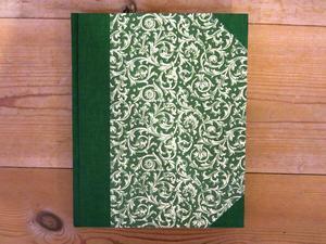 Anteckningsbok vintage, grön