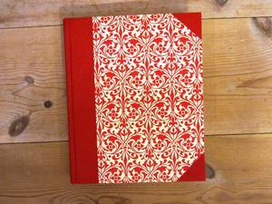 Anteckningsbok vintage, röd