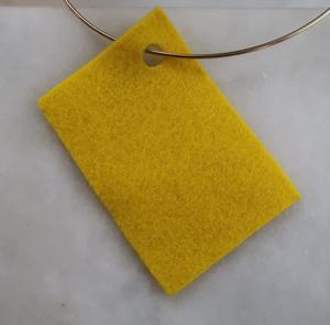 Filt 100% ull - 15x20 cm Gul 02