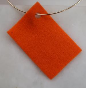 Filt 100% ull - 15x20 cm Orange 04