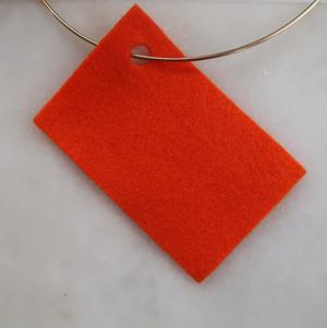 Filt 100% ull - 15x20 cm Orange 05