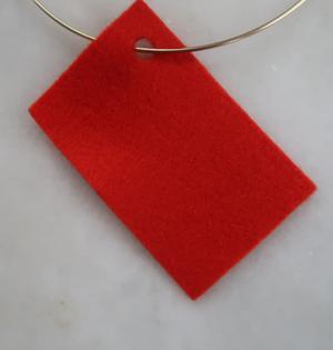 Filt 100% ull - 15x20 cm Röd 06