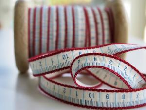 Centimeterband vit-blå-röd