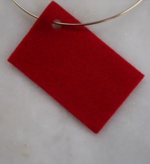 Filt 100% ull - 15x20 cm Röd 07