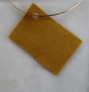 Filt 100% ull - 15x20 cm Gul 12