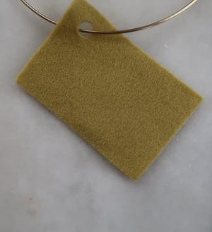 Filt 100% ull - 15x20 cm Gul 13
