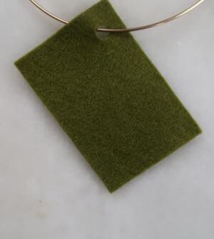 Filt 100% ull - 15x20 cm Grön 14
