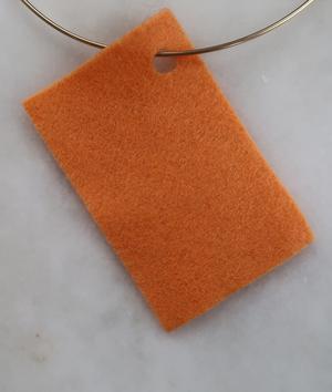 Filt 100% ull - 15x20 cm Orange 17
