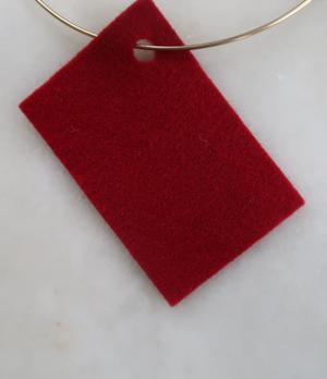 Filt 100% ull - 15x20 cm Röd 23