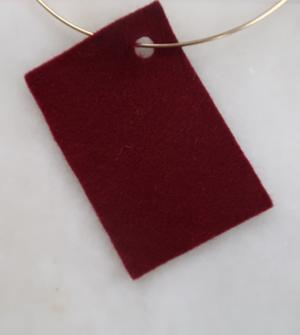 Filt 100% ull - 15x20 cm Röd 24
