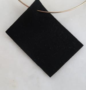 Filt 100% ull - 15x20 cm Svart 40