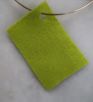 Filt 100% ull - 15x20 cm Grön 42