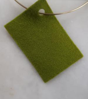 Filt 100% ull - 15x20 cm Grön 43