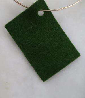 Filt 100% ull - 15x20 cm Grön 47