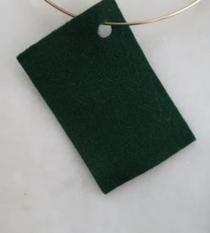Filt 100% ull - 15x20 cm Grön 48