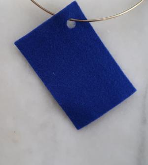 Filt 100% ull - 15x20 cm Blå 60