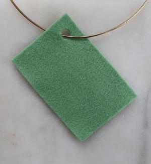 Filt 100% ull - 15x20 cm Grön 68