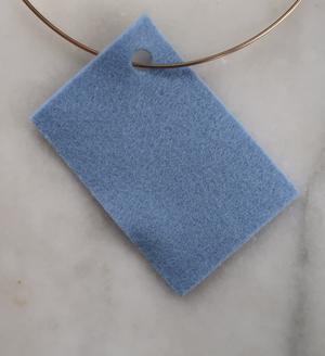 Filt 100% ull - 15x20 cm Blå 75