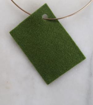 Filt 100% ull - 15x20 cm Grön 79