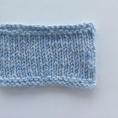 Aran tweed Isblå